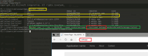 docker images, docker run -d -p 8903:80 --rm --hostname webapp --name container wedocode/webformsapp:latest